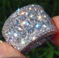 14k White Gold Vintage Ring! just gorgeous  |  my diamonds