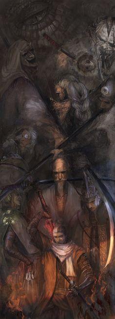 Samurai, Dark Holes, Sengoku Period, Seven Knight, Soul Game, Game 1, Knights, Mythology, Comic Art