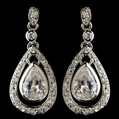 Affordable Elegance Bridal - Pearl and CZ Teardrop Pendant Necklace Wedding Jewelry Set, $122.99 (http://www.affordableelegancebridal.com/pearl-and-cz-teardrop-pendant-necklace-wedding-jewelry-set/)