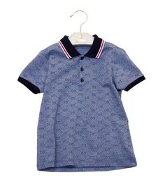 Gucci blue children's pique polo shirt from Profile Fashion