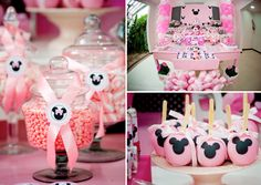 Minnie Mouse Themed Birthday Party via Karas Party Ideas karaspartyideas.com #minnie #mouse #themed #birthday #party #planning #ideas #cake #idea #decor #favors #supplies