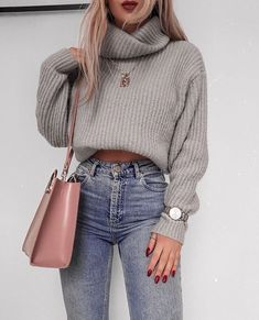 60 Trendy And Fashionable Fall Outfits You Should Try This Year - Page 18 of 60 - Chic Hostess Casual Winter Outfits for Women, Trendy outfits, Casual Outfits # .Casual Winter Outfits for Women, Winter Outfits 2019, Summer Outfits For Teens, Winter Outfits Women, Winter Fashion Outfits, Fall Fashion, Autumn Outfits, Spring Outfits, Winter Outfits Tumblr, Womens Fashion