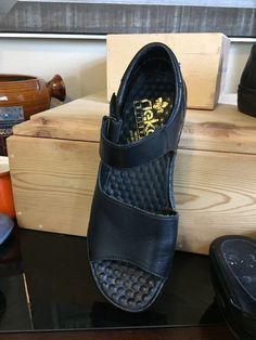 Reiker Women's Anti stress Black Leather Strap Slide Sandals Size 39     eBay