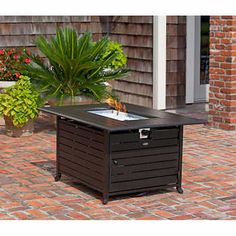 Paramount® Nygel Rectangular Propane Fire Pit Table