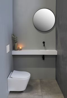 Small Downstairs Toilet, Small Toilet Room, Very Small Bathroom, Bathroom Design Small, Bathroom Interior Design, Corner Toilet, Corner Sink Bathroom, Toilet Design, Small Rooms