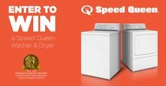 Win A $2,000 Speed Queen Washer & Dryer