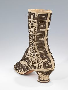 Evening boots, 1885-90 France (probably), the Met Museum