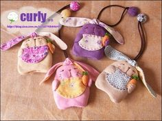 The Craft of Quilt Templates; Key Bag, Key Pouch, Cute Sewing Projects, Sewing Crafts, Sewing For Kids, Free Sewing, Felt Crafts, Diy And Crafts, Beaded Banners
