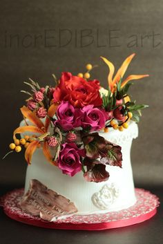 Vivid Colours of Nature- Wedding cake  ~ all edible
