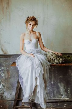 25 Gorgeous Ethereal Colored Wedding Dresses : http://www.fabmood.com/gorgeous-colored-wedding-dresses #weddinggown #weddingdress
