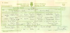 Clarice Boswell and Steve (H)eron marriage cert