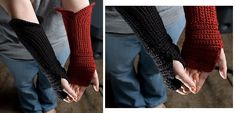 Gauntlet Style Fingerless Gloves | Pretty Ideas