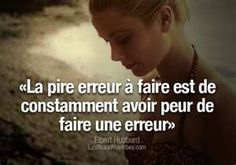Translates to: The worst mistake is to continually be afraid of making a mistake French Phrases, French Words, French Quotes, Best Quotes, Life Quotes, Plus Belle Citation, Proverbs Quotes, More Than Words, Positive Attitude