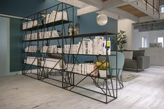Frovi - Foundry Shelves: Finding new use for an existing industrial material Foundry's aesthetic is both raw and refined With complimentary pieces enhancing the range, the alternative use of different materials will make a statement in any workspace.