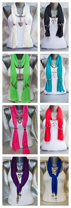 Spring Jewelry Scarves – Super Cute and Light Weight $10.00