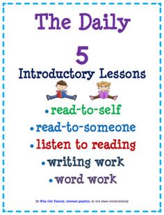 FREE Read to Self (Silent Reading) Lesson, PPt, and all Daily 5 Separately