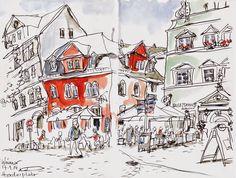 Urban Sketchers Germany: Weimar V - Herderplatz