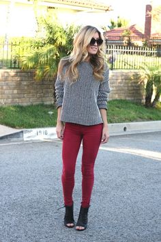 """Nip and Tuck  Avoid the """"chunky legs"""" look by tucking your pants inside your ankle boots. This flattering styling tip will make your legs look longer than usual. Lightweight denim pants anda nice pair of leggings are sure to look good with your booties."""
