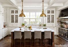 I am absolutely wowed by this super gorgeous kitchen! Designed by Rebekah for her clients with a background in the restaurant biz, this f...