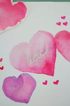 I'll take any excuse I can to use my watercolors. The medium lends itself to such pretty patterns and effects that even the simplest of designs can look beautiful. Because Valentine's Day is just around the corner, I thought it would …