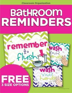 classroom routines for the restroom - wash and flush - KindergartenWorks. Cute for school bathrooms! Classroom Routines, Classroom Setting, Classroom Posters, Classroom Setup, Kindergarten Classroom, Future Classroom, Primary Classroom, Classroom Activities, Classroom Signs
