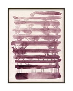 """""""Abstract Watercolor 90"""" - Art Print by Ekaterina Romanova in beautiful frame options and a variety of sizes."""