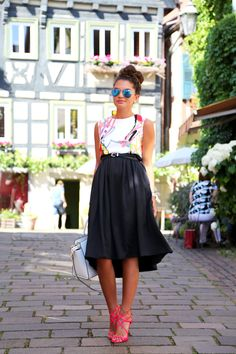 black with pops of colour