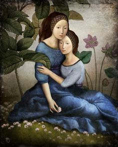 """artisticmoods: """" By your side, by Christian Schloe. ArtisticMoods: posting on Facebook & Twitter. """""""