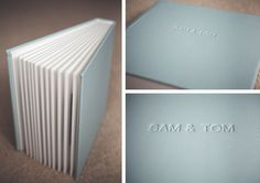 Queensberry Wedding Album | Overlay Matted Album with Powder Blue Micro Leather cover & Embossing | Eneka Stewart Photography