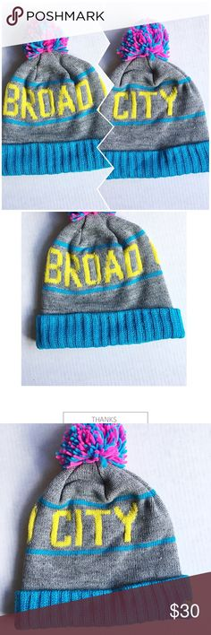 🌟Broad City Comicon beanie hat Mitchell & Ness🌟 Really cool Broad City San Diego Comicon exclusive beanie. Made by Mitchell and Ness. In great condition 😎🌟 Mitchell & Ness Accessories Hats