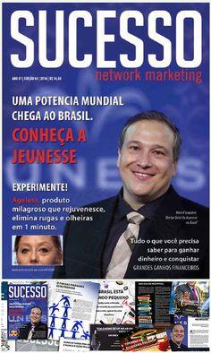 """Jeunesse Brasil na capa da revista """"Sucesso Network Marketing"""" saiba mais com Team Ouro."""