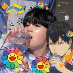 Foto Bts, Kageyama, Haikyuu, Yoonmin, Twitter Layouts, Twitter Header Photos, Taehyung, Kpop, Rainbow Aesthetic