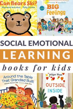 From self-awareness to social awareness, this list of social emotional learning books for kids includes a printable book list. #socialemotionallearning #booksforkids #GrowingBookbyBook How To Express Feelings, Feelings And Emotions, Preschool Books, Preschool Activities, Best Toddler Books, Christian Robinson, Circle Time Activities, Thankful For Friends, Reading Specialist