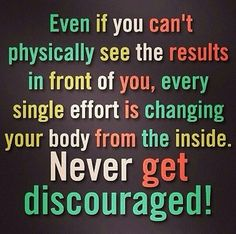 never get discouraged