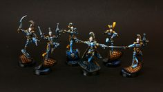 "HopeRiver's Valley: Harlequin army. Blue part - ""Spades"""