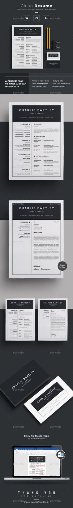 Resume — Photoshop PSD #resume creative #indesign • Download ➝ https://graphicriver.net/item/resume/19582345?ref=pxcr
