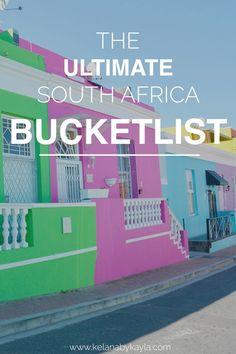 My South Africa Bucketlist