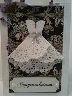 Doily Dress Wedding Card