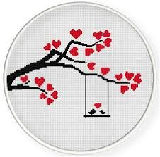 Browse unique items from danceneedle on Etsy, a global marketplace of handmade, vintage and creative goods. Cross Stitch Cards, Simple Cross Stitch, Modern Cross Stitch, Cross Stitching, Wedding Cross Stitch Patterns, Counted Cross Stitch Patterns, Cross Stitch Designs, Dmc Embroidery Floss, Cross Stitch Embroidery