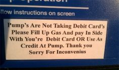 Pump's are having problems.... They're not alone.
