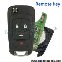 New 5 Button Flip Remote Key Fob Case Shell for Buick Lacrosse Chevrolet GMC