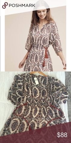 Floreat Anthropologie dress NWT super cute dress from Anthropologie Size Small Fits Tts Anthropologie Dresses Long Sleeve