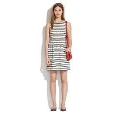 ++ afternoon dress in textured stripe