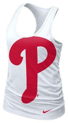 Philadelphia Phillies MLB Nike Womens White Cotton Racerback Tank  my fav!