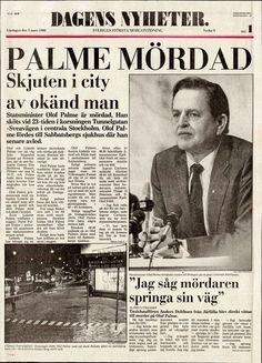 """February 28th, 1986. A national trauma. Everyone in Sweden who was old enough to , remember what they did when they found out. I was sitting in my grandparent´s living room, waiting for the saturday morning show to begin. It never aired, instead there was a news bulletin on the assassination of Olof Palme. Granddad had heard on his radio and came down to tell grandma. Everyone was in disbelief. """"It couldn´t happen here!"""". And especially granddad had his theories on """"who dunnit"""". News Bulletin, The Old Days, Native American History, Stockholm Sweden, My Childhood Memories, Historical Pictures, Prime Minister, Illustrations And Posters, Saturday Morning"""