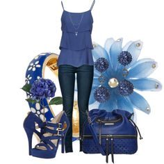 """""""What can I say I love blue"""" by leelee107 on Polyvore"""