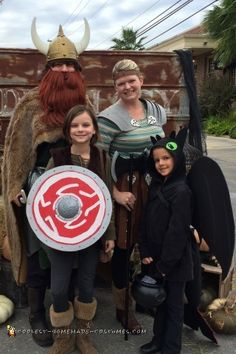 My youngest daughter loves the How to Train Your Dragon Movies. When she asked to be Toothless I thought it would be fun for the whole family to dre...