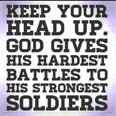Yes he does and he is the one that gives me strength and courage to keep fighting !! Chiari Warrior's Life FAITH STRONG WITH GOD ❤