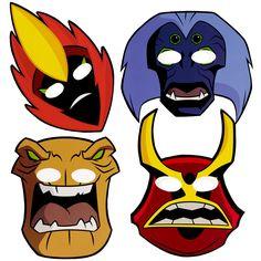 Ben 10 alien masks