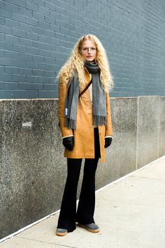 The Front Row View: Street Style: Frederikke Sofie's Tan Leather Coat